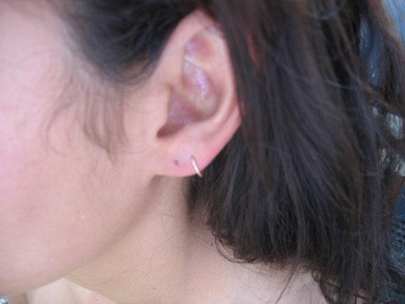 Hoop Earrings Gold Plain Tiny Hoop Earrings/Little Hoop Earrings/Gold Hoop Earrings/Cartilage Earrings/Piercing Earrings/Mens Hoop Earrings