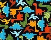 Urban Dinosaurs -- Children's Plush Hooded Towel
