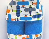 Plush Hooded Towel -- Ready Set Go Airplanes