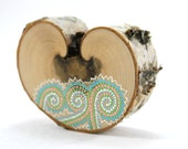 Amelia's Spring / Alaska Series / Painted Birch Heart by Amy Komar