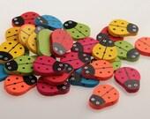 Ladybug Wooden Beads