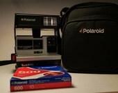 Unopened Polaroid 600 Film & Polaroid 600 Camera w/case