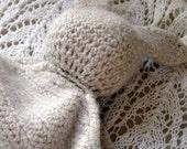 Luxury Felted Bunny Snuggle Comforter blankie