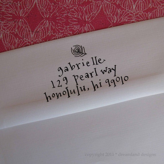 Custom Address Stamp in your choice of self-inking, red rubber or polymer
