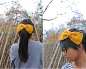 Adorable oversized crocheted bow