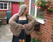 RESERVED FOR PATCHBELLEPIXIE The Narnia hoodie - a hand-knitted, hooded shrug for fairytale adventures