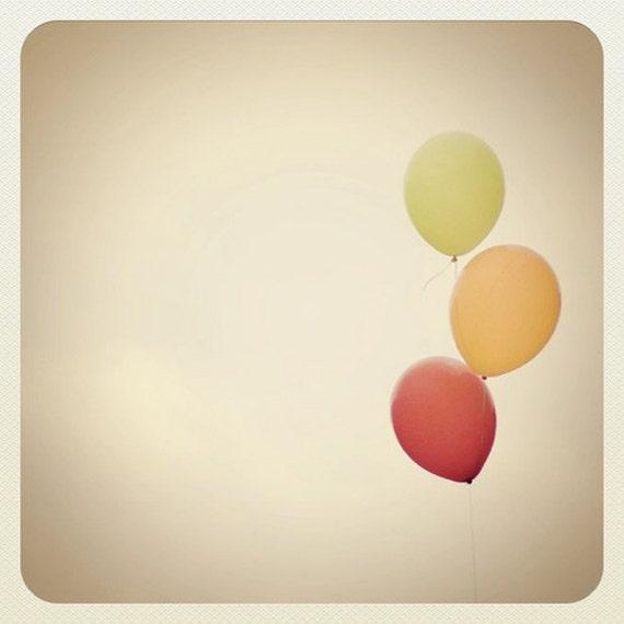 Balloon Photo,  Nursery Photo,  Balloons, Red, Orange, Yellow, Balloon Print, Balloon Photography, Square Format Photo, 5x5