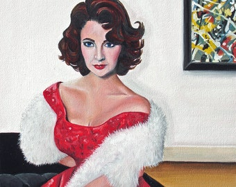 A pose for Jackson - original oil painting