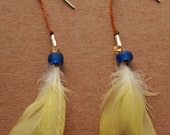 RESERVED canary earrings