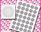 """Instand Download - 1.313 Inch Template for Button Machine Digital Sheet DIY Badges 1"""" Circles 8.5"""" x 11"""" PSD"""