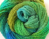 Hand Dyed Wool Crinkle Yarn - Spring Green