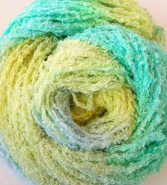 Hand Dyed Rayon Eyelash Fringe Yarn - Soft Breeze