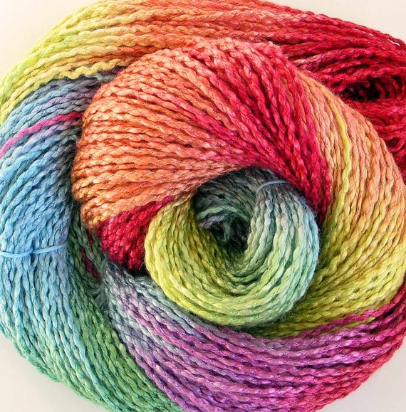 Hand Dyed Rayon Yarn - Summer Blooms