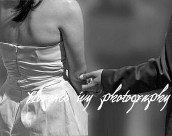 I Do Fine Art Wedding Photo Black & White Portrait