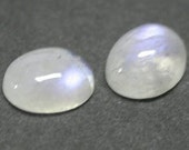 Pair of Rainbow moonstone cabochons 7x5 mm AAA  color - Two cabs Extra nice quality
