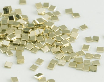10k yellow gold chip Solder - about 90 chips - about 1/4 gram - cadmium free - easy density