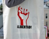 PRICED REDUCED - libertad (freedom) tote bag