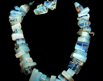 Ultra Blue Lights Necklace and earrings