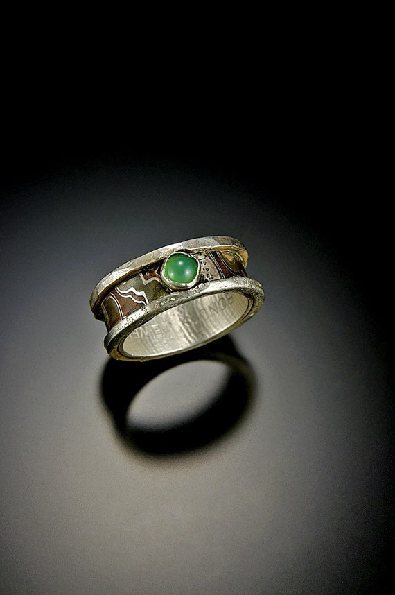 20% off a similar Bonds Jewels Mokume Gane Ring with Green Chrysoprase or similar cost stone.