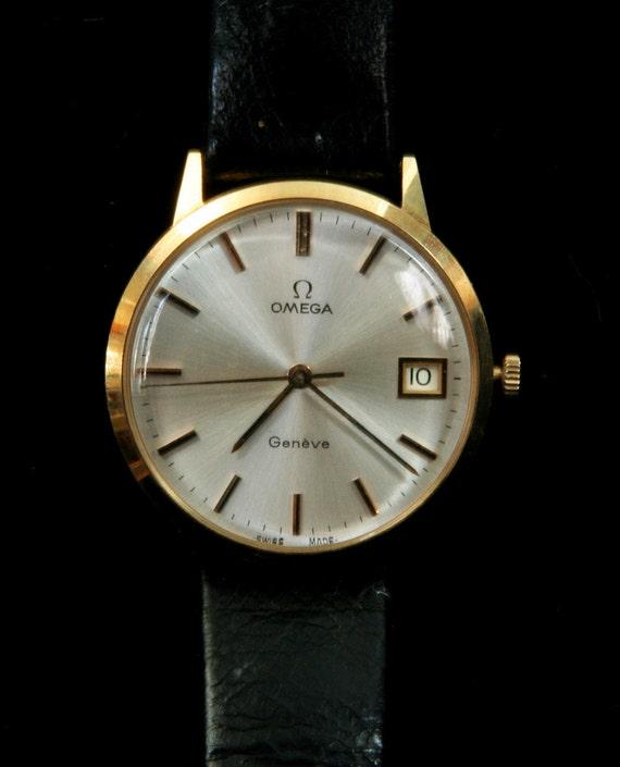 14kt gold vintage Omega Geneve watch