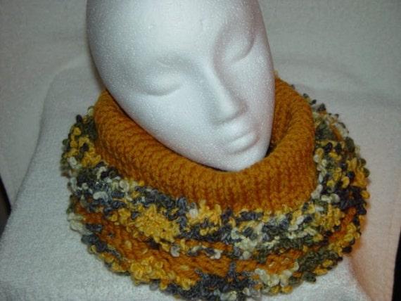 SALE Cowl Hoodie Neck/HeadSock Neckwarmer Warm Wool Sunflower 40 Percent Off