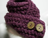 Plums and Figs Button Up Scarf - Cowl - Neckwarmer with 2 Large Tree Branch Buttons