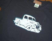 organic '51 ford trucker tshirt, 4T, short sleeve alternative apparel crew