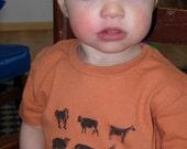 organic farm animal tshirt, 12-18m, short sleeve alternative apparel crew