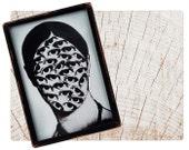 Handmade Copper Mirror / Pocket Mirror / Purse Mirror / Face with Eyes psychedelic