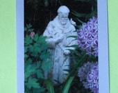 St Francis - the animal lover - photo notecard - 50 percent to benefit AWBAR