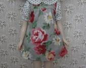Grey Floral Baby Doll Dress