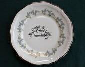 Poisoned Porcelain plate