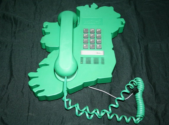 Reserved for Ally Please do not purchase, if you're not Ally- Vintage Green Ireland Push Button Phone