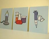 Lab Ware Art Postcards