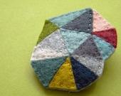 Geometric Triangles, The Wednesday Felt Brooch