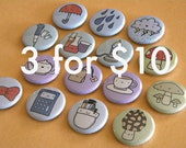 Bulk Button Order - 3 sets - You Chose (9 pins total)