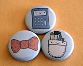Geek Wear Button Set