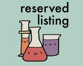 Reserved listing for Jen
