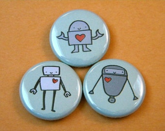 Love Robots Button Set