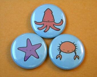Sealife Button Set