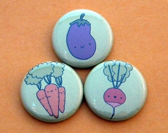 Veggie Button Set
