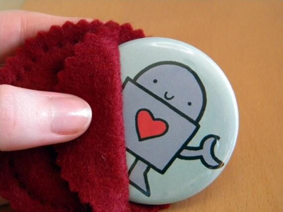 Love Robot Pocket Mirror