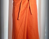 ORANGE WRAP SKIRT - lovely for everybody including pregnant and post natal mothers