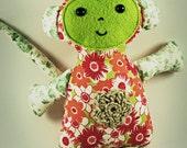 Green Juki Plush Vegan Friendly Toy OOAK