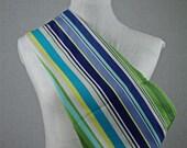 Summer Cotton Blue/Green Stripe Earthsling Sling Pouch Baby Carrier - Medium