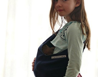 Navy Blue Child's Toy Pouch Sling for Dolls or Teddies 1-8yo
