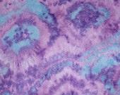 Purple Green and Blue Tie Dye Felt Sheet