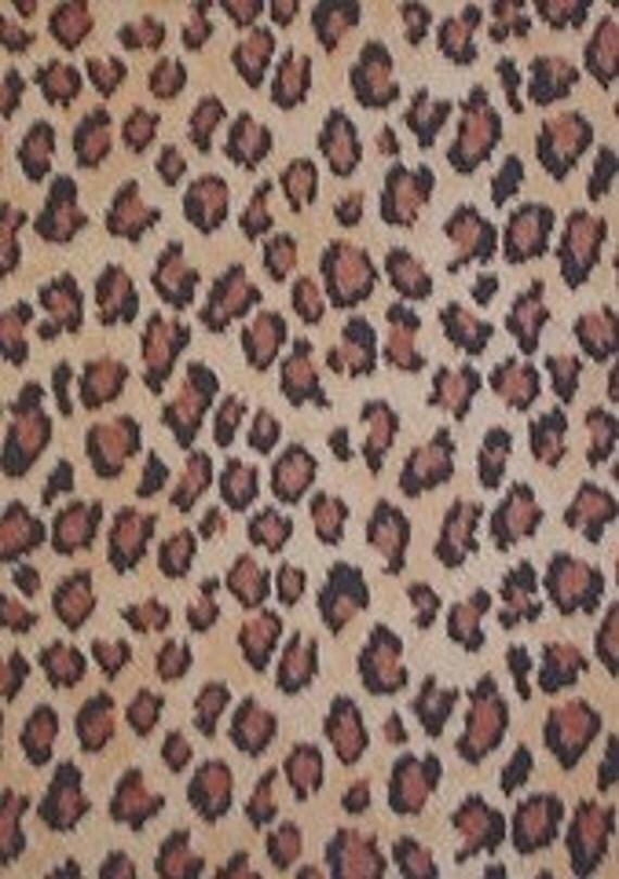 Felt Sheets  Brown Leopard