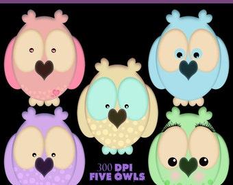Cartoon Owl PNG Pack