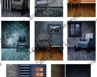 Take A Seat ATC Background Digital Collage Sheet JPG